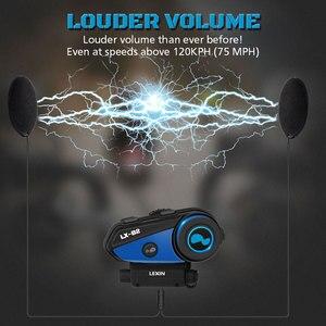 Image 3 - 最新 Lexin B2 オートバイの Bluetooth ヘルメットヘッドセットインターホン BT ワイヤレスインターホン intercomunicador bluetooth パラ motocicleta