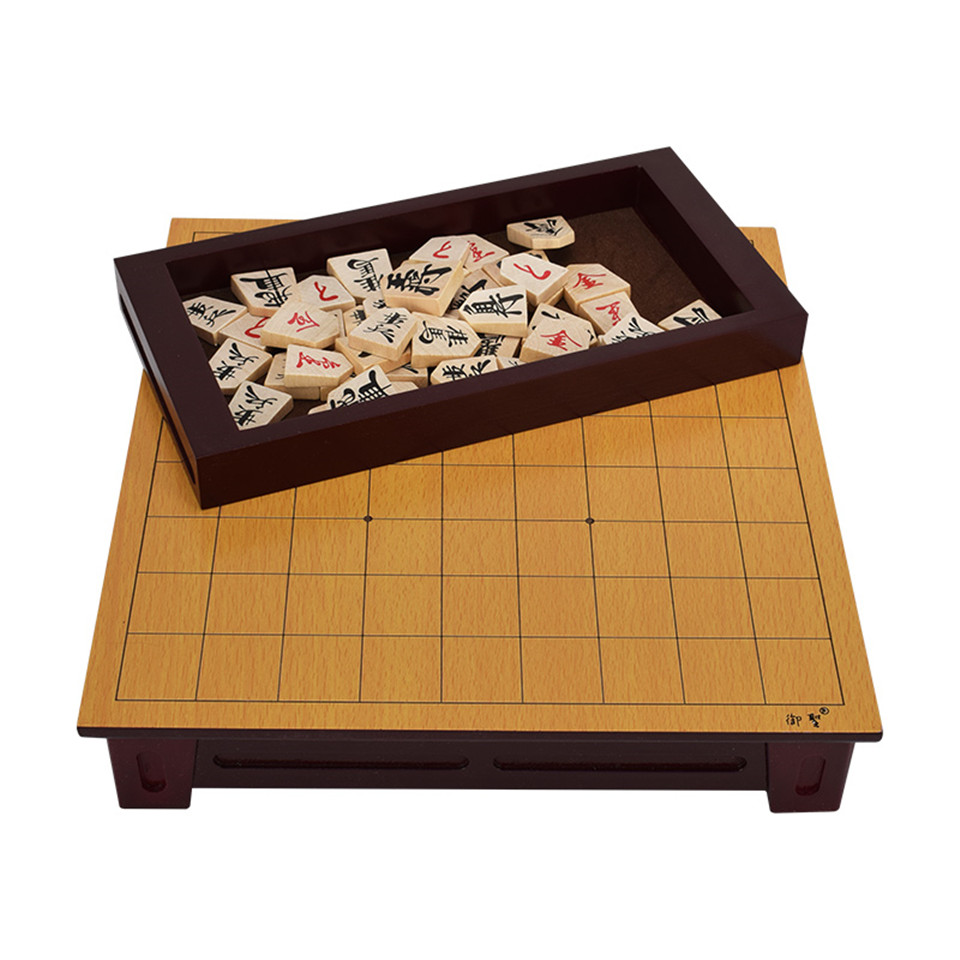 BSTFAMLY Wooden Japan Shogi 27*25*5cm 40 Pcs/Set International Checkers Folding Sho-gi Chess Game Table Toy Gift Children LD02 foldable magnetic folding shogi set boxed portable japanese chess game sho gi exercise logical thinking 25 25 2 cm