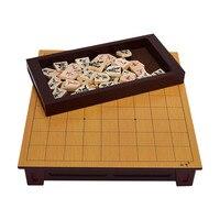 BSTFAMLY Wooden Japan Shogi 27*25*5cm 40 Pcs/Set International Checkers Folding Sho gi Chess Game Table Toy Gift Children LD02