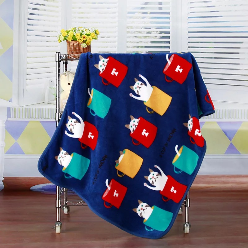 SummitKids 100X73CM New Baby Blanket Børn Varm Fleece Blanket På Seng Blød Plaid Throw Blanket Animal Baby Swaddle Tæppe
