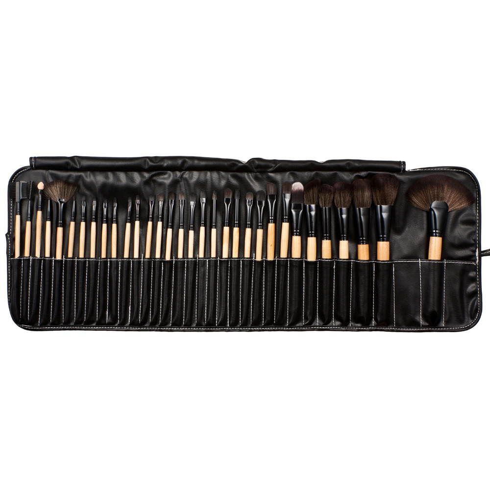 32Pcs Make Up Brushes Pouch Bag Beauty Tools Kabuki Brush Makeup Kit Pinceis Maquiagem Eyelashes Powder Foundation Brush Cleaner кисти для макияжа kabuki brush 100% 27 pinceis maquiagem makeup brushes