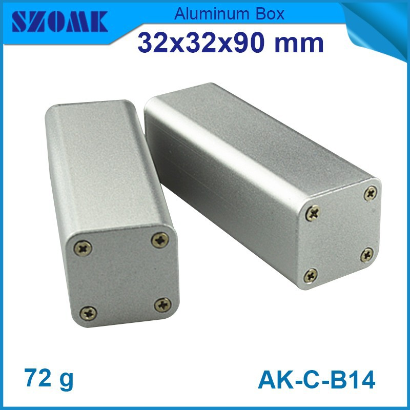 10 pcs/lot Hot selling beautiful metal electrical boxes 32(H)x32(W)x90(L) mm aluminum profiles innovative products china