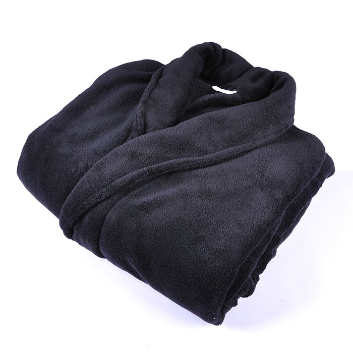 Adult Bathrobe Soft Thickening Coral Fleece Solid Color Plus Size Men Women Couples Warm Robe Gown Sleepwear Pajama
