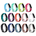 New High Quality Secure Adjustable Strap Replacement Silicone Strap Clasp for Fitbit Alta Watch Metal Bands Wristband Bracelet