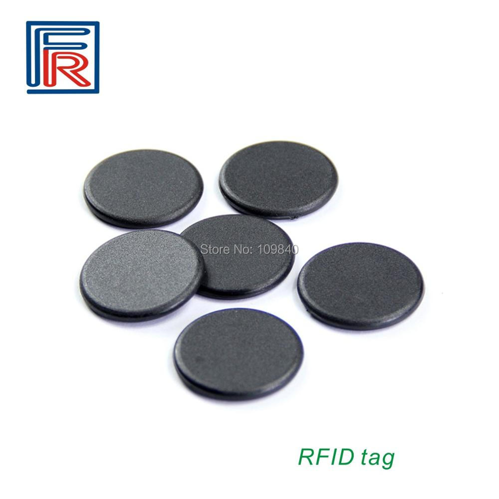 100pcs Diameter 13mm 13.56mhz M1 S50 Chip Laundry Tag ISO14443A High Temperature RFID Tags