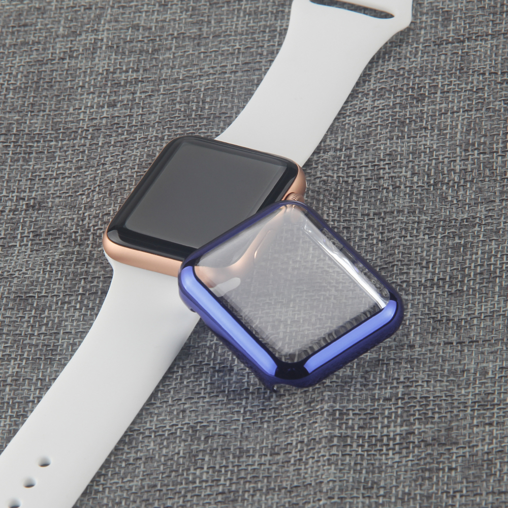 Screen Protector Cover for Apple Watch Case Electroplating Plastic Hard PC 38mm/42mm for Apple Watch Series 3 and Series 2 42mm 38mm for apple watch s3 series 3