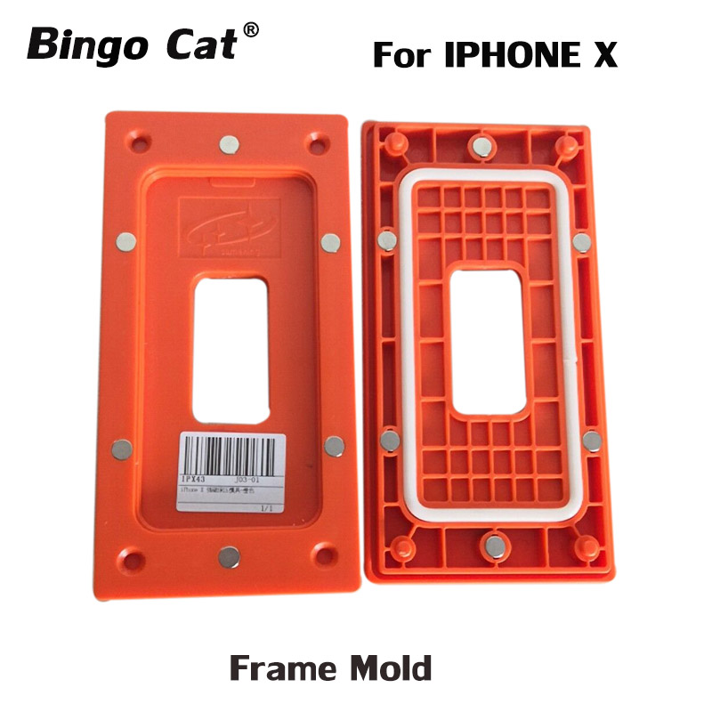 Bingocat Clamping mold for <font><b>iphone</b></font> <font><b>X</b></font> xs xsm Lcd <font><b>glass</b></font> frame magnetic position for <font><b>glass</b></font> holding mobile phone <font><b>repair</b></font> fixture tool image