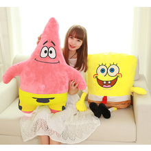 Hot Sponge Bob Kids Myke Stoppede Dyr Plysj Leker Baby Pute Animal Cartoon Doll Bomullspute Christmas Gifts For Children