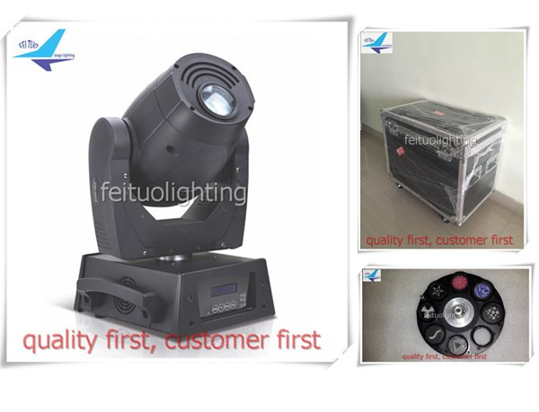 free shipping 8Xlot flycase 150w Gobos LED Spot Moving Head Light 3 Prism Projector Stage DMX Sound Active Party DJ Show Lights