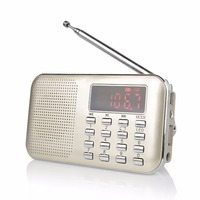 XM Portable AM FM Transistor Radio With Mp3 Music Player Speaker Support Micro IF Card