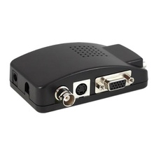 BNC PC to TV Converter, VGA Adapter, RCA, Cinch, S-Video Cable Converter for SVHS Black стоимость