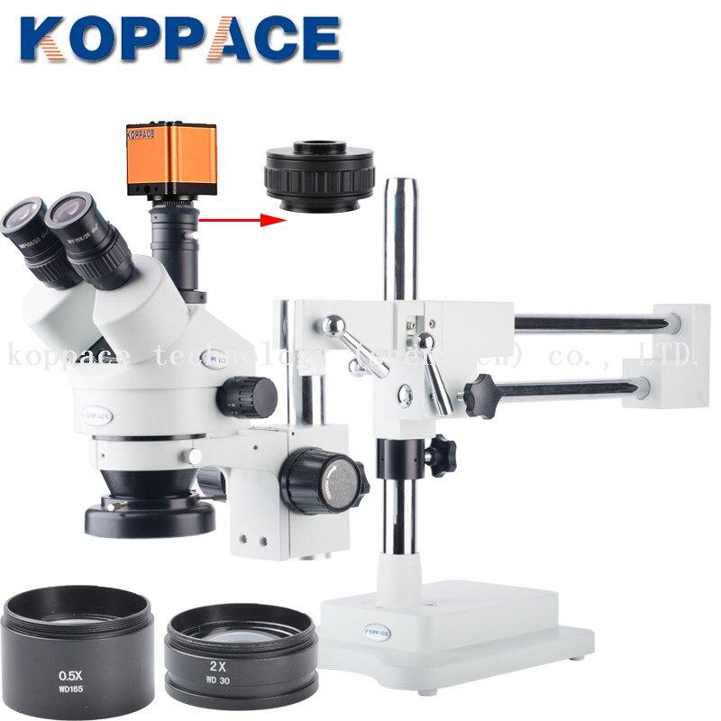 Indústria Eletrônica 60FPS 16MP Full HD 1080P HDMI Câmera Microscópio Digital de reparo do telefone Móvel 3.5X-90X Microscópio Estereoscópico
