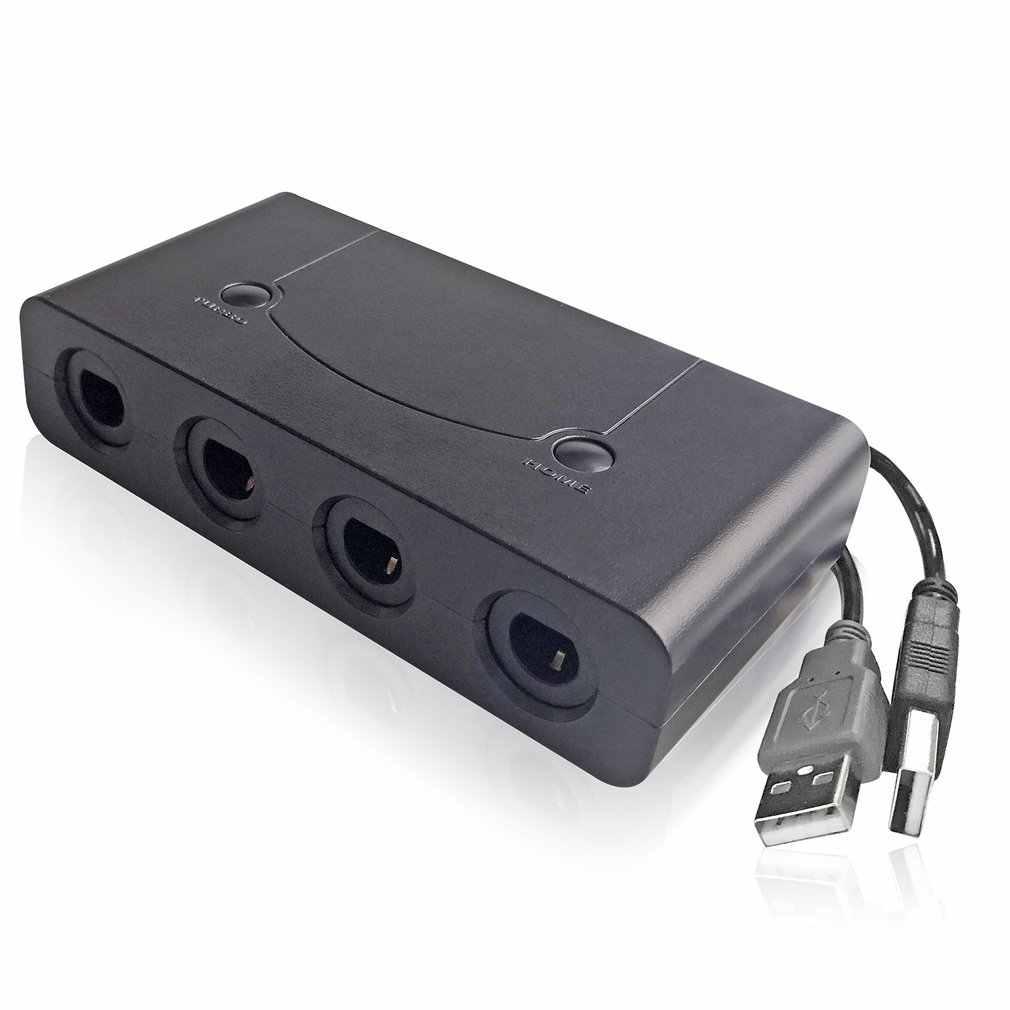 جيم كيوب محول 3 في 1 GC إلى لوى U PC التبديل جيم كيوب تحكم محول محول PC USB ل Nintend