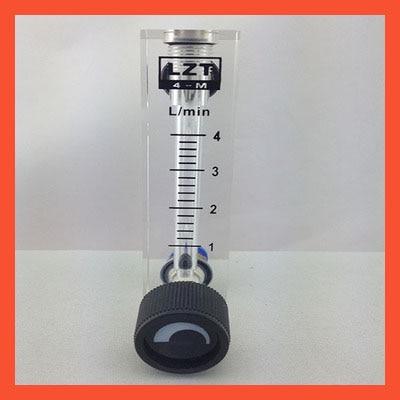 LZT-4T 1-4 L/min 1-4LPM Square Panel Type gas Flowmeter Flow Meter rotameter LZT4T Tools Flow Measuring rt n 65 u купить