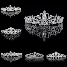 TREAZY Rhinestones Tiaras and Crowns Wedding Tiara Bridal Crown Crystal Wedding Tiaras for Brides Pageant Wedding Accessories