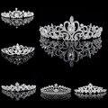 Tiaras y Coronas de La Boda Tiara Nupcial de La Corona de Cristal de Diamante Piedras Accesorios de Boda Del Desfile de Tiaras De La Boda para Las Novias