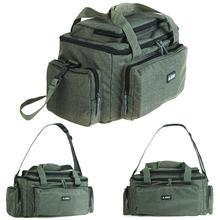 Bolsa de pesca multifuncional de gran capacidad, bandolera de nailon de tela para hombro, pesca en embalse, carrete, cámara de cebo, bolsa de almacenamiento