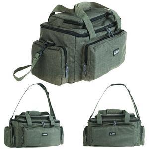 Image 1 - Duża pojemność wielofunkcyjna torba wędkarska tkanina nylonowa na ramię Messenger zbiornik wędkarski Reel Lure torba na aparat