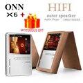 ONN X6 Digital Lossless Sport Hifi Audio Screen Mini Mp 3 Music Mp3 Player Radio FM 8GB With Flac Lcd Running Portable Speaker