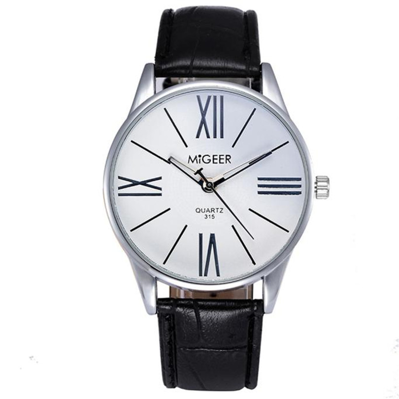 New Luxury Fashion Crocodile Faux Leather Mens Analog Watch Wrist Watches Simple Graceful Dress Sport Gentleman Watch Gifts F75