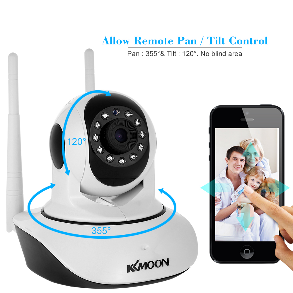 Image 2 - KKmoon IP Camera 1080P HD Wireless Wifi Camera 2MP Network Surveillance Camera Night Version Two way Audio P2P Home CCTV Camera-in Surveillance Cameras from Security & Protection