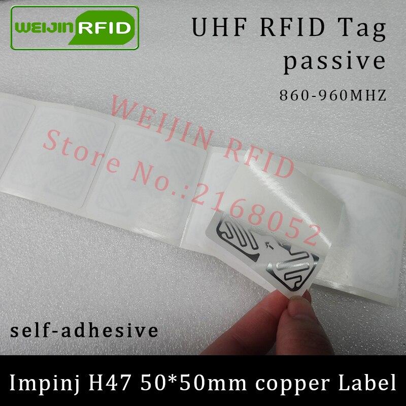 RFID метка UHF стикер Impinj H47 печати медь этикетки 915 м 860-960 мГц EPCC1G2 6C Smart клей пассивный Rfid метки