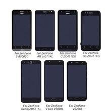 Asus zenfone display lcd + digitalizador touch screen, conjunto para asus zenfone a500cg v500kl v520kl zs571kl zd551kl
