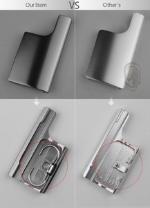 Image 5 - SOONSUN อลูมิเนียมอัลลอยด์กลับประตูคลิปล็อค Snap LATCH สำหรับ GoPro HERO 3 + 4 มาตรฐานเคส Go Pro accessor