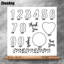 ZhuoAng Number symbol Transparent Clear Stamps DIY Scrapbooking Album Card Making Decoration Embossing Stencil