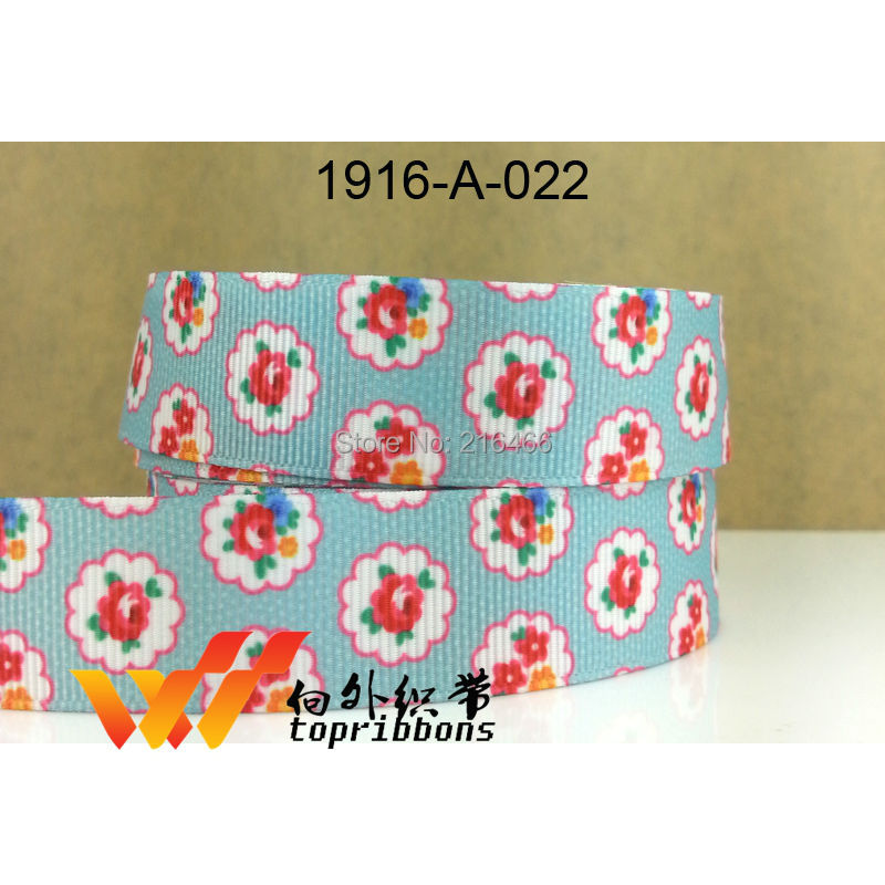 "Free shipping 2014 new ribbon 10 yard 7/8""(22MM) mickey  ribbon printed grosgrain ribbon 1916A 022-in Ribbons from Home & Garden    1"