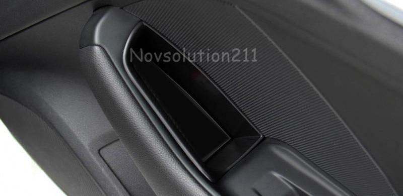Autojen ovenkahvan käsine Organisaattorin muotoilu Audi A3: lle 8V 2014 - 2016 Sisäinen 4 * etu + takaluukun kahvan käsinojan säilytyskotelon pidike