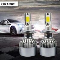 2Pcs COB 72W 8000LM 6500K Light Ice H4 Led Auto Lamp Super White H7 Car Led