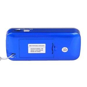 Image 4 - kebidu Mini Speaker MP3 Audio Player Flashlight Amplifier Micro SD TF FM Radio Fashion L 088 Portable HIFI Speaker