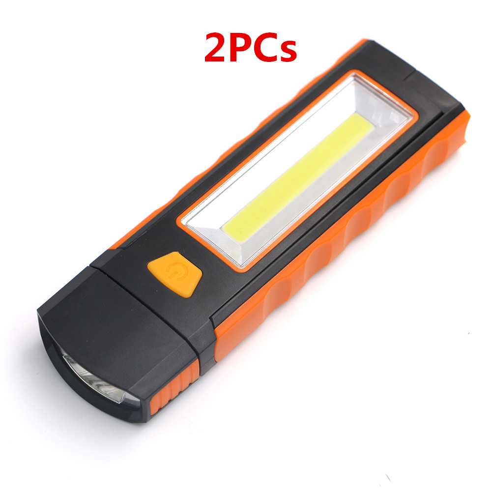 2PCs/lot LED Flashlight Portable Lantern Emergency LED+COB Camping Lantern Hand Flash Light Torch Lamp With Magnet and Hook large flashlight solar charging camping lantern camping lantern portable lamp outdoor lighting emergency power old man lamp