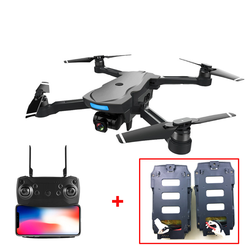 (With 2 Batteries) AOSENMA CG033 Brushless FPV RC Quadcopter With 1080P HD WIFI Gimbal Camera Foldable GPS Drone RTF