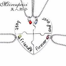«Лучшие друзья навсегда и навсегда ювелирные изделия» дружба кулон ожерелье разбитое сердце головоломка друзья креативный подарок на память для 4