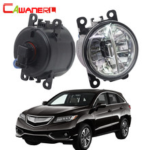 Cawanerl For 2010-2015 Acura RDX Car LED Fog Light 4000LM White 6000K 12V Daytime Running Lamp DRL Styling High Bright 2 Pieces(China)