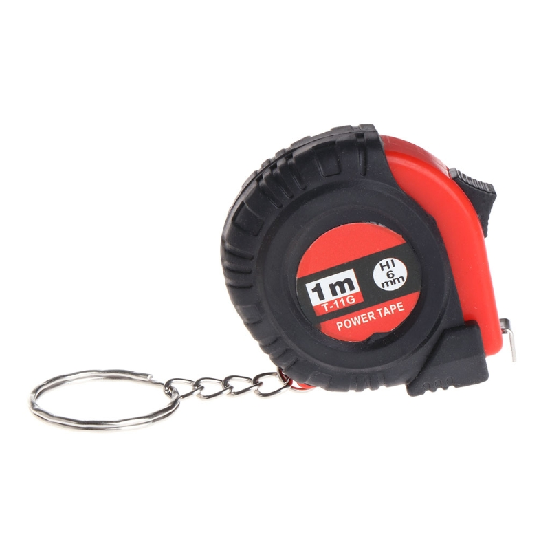 Mini Tape Measures With Key Chain Plastic Portable 1m Retractable Ruler cm/Inch Tools
