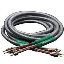 Câble Audio haut parleur HiFi câble de prise banane plaqué or câble Audiophile OFC & argent Krell amplificateur câbles de fil de haut parleur