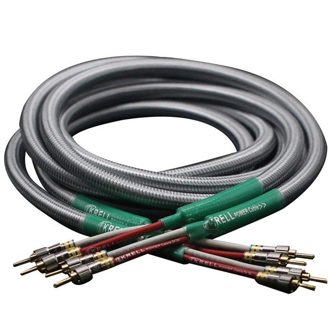 HiFi Speaker Audio Cable  Golden Plated  Banana Plug Cable Audiophile OFC &silver Krell Amplifier Speakon Wire Cables