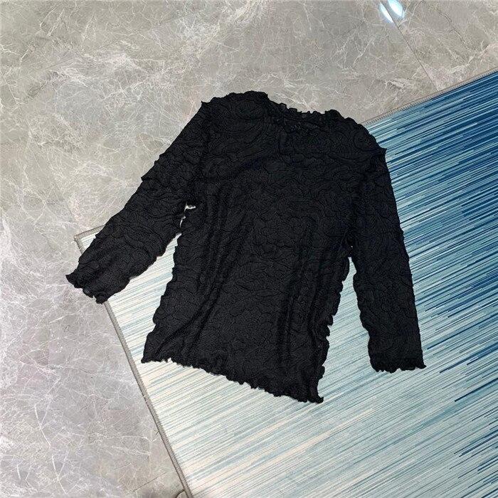 Camiseta plisada bordada a mano de trabajador con sobrepeso MIYAKE pleats camiseta 1093FC16 envío gratis - 6