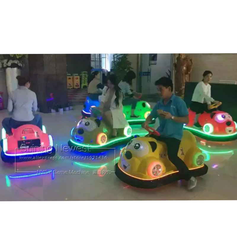 Suining Newest Amusement Park Equipment Playground Coin Operated Game Machine Cute Bear Animal Battery Bumper Cars For Kids