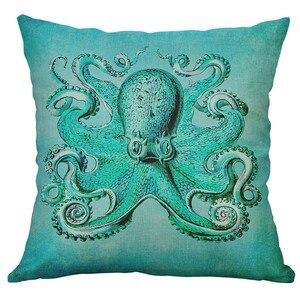 Image 1 - 해양 생물 산호 바다 거북 해마 고래 문어 쿠션 커버 베개 커버 홈 장식 housse 드 쿠신 45x45 cm