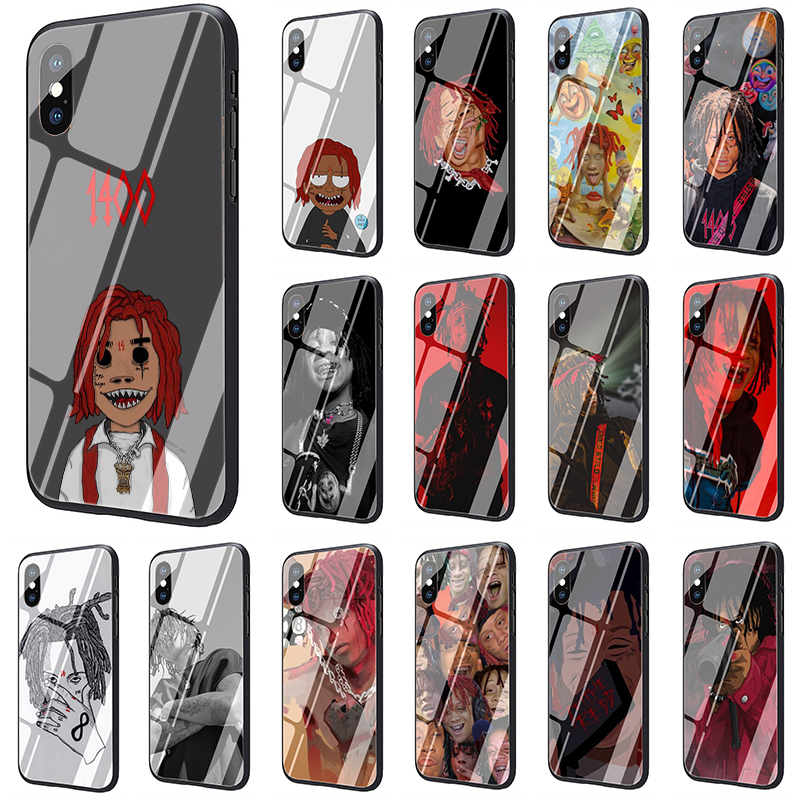 Hip hop artist Trippie Redd Tempered Glass phone cover case for iphone 5 5s SE 2020 6 6s 7 8 plus X XR XS 11 pro Max image