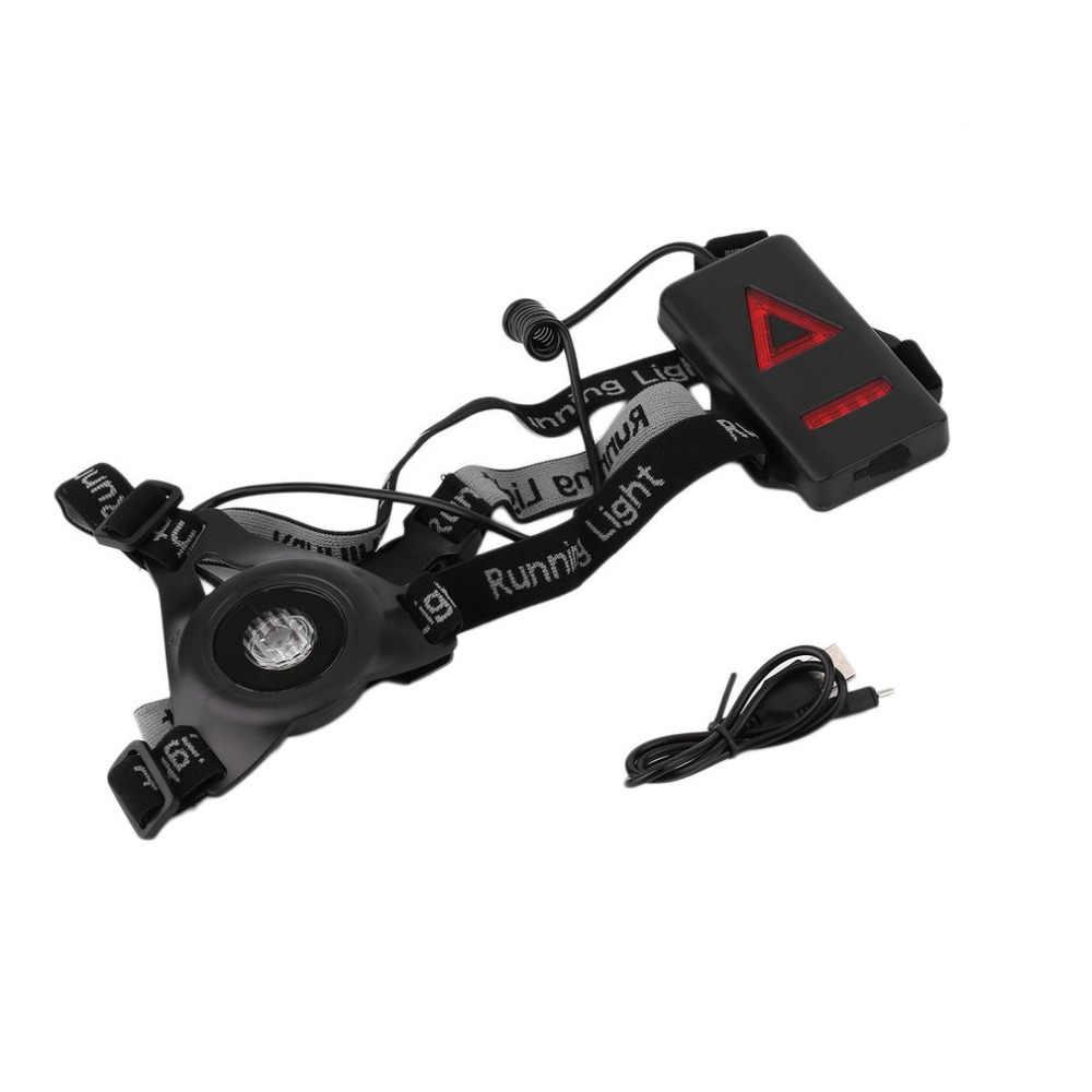 XPE Спорт на открытом воздухе ходовые огни Q5 светодиодный ночной бег фонарик Аварийные огни USB зарядка груди Лампа Белый свет факела, Прямая поставка