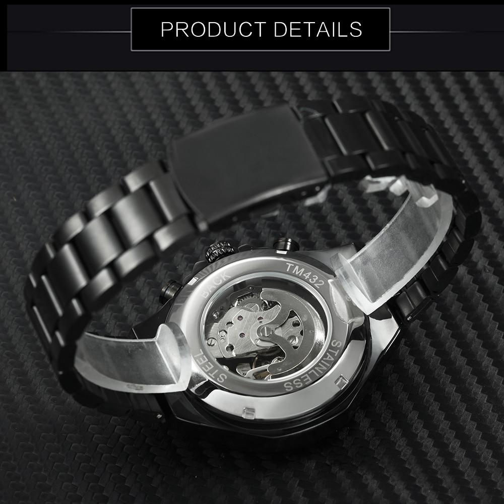 WINNER Vintage Fashion Men Mechanical Watches Metal Strap Top Brand Luxury Best Selling Vintage Retro Design Wristwatches +BOX 21