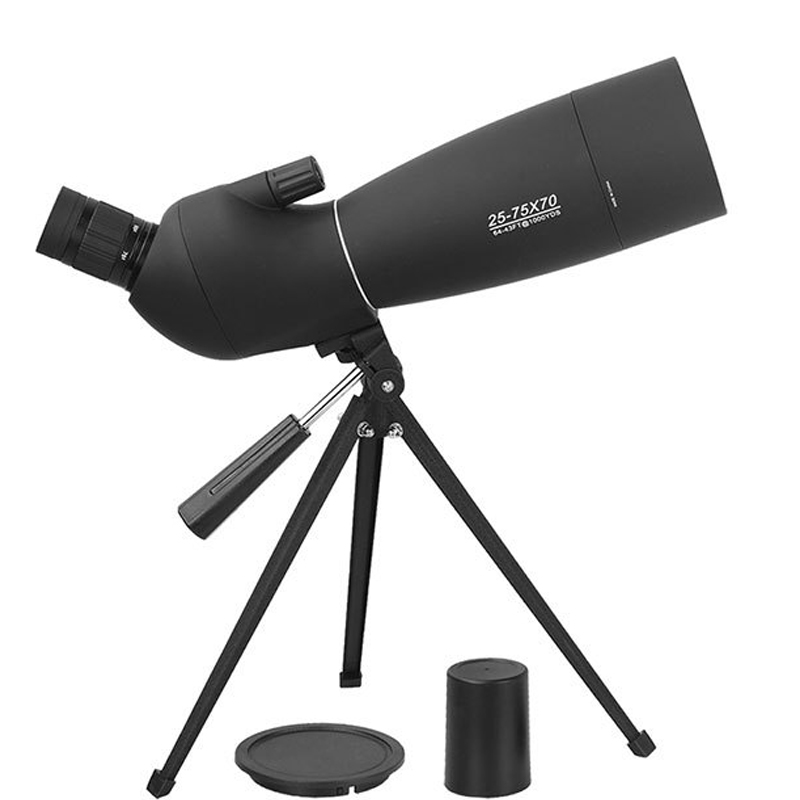 25 75x70 Monocular Large Caliber High Definition Viewing Target Telescope Bird Watching Scope with Stand and Portable sling bag