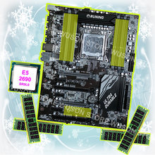 Buy best discount motherboard Runing Super ATX X79 LGA2011 motherboard with CPU Intel Xeon E5 2690 C2 2.9GHz RAM 64G(4*16G) RECC(China)