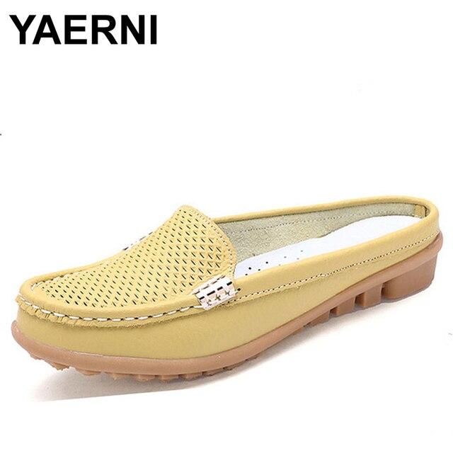 Yaerni 2017 Сланцы Шлёпанцы для женщин женские босоножки для отдыха Шлёпанцы для женщин без застежки удобные Сандалии для девочек Сланцы туфли с вырезами