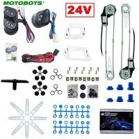 MOTOBOTS 1Set Truck Bus 2 Doors Electric Power Window Kits 3pcs/Set Switches & Wire Harness DC24V